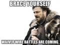 LOTR Waiver Wire