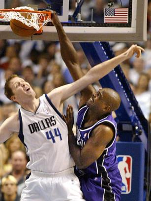 Shawn Bradley displaying upside