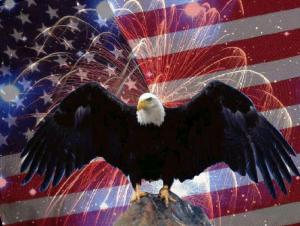 Eagle-Flag-Fireworks