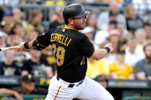 PITTSBURGH, PA - JUNE 15:  Francisco Cervelli #29 of the Pittsburgh Pirates hits a two-run triple in the first inning during inter-league play against the Chicago White Sox at PNC Park on June 15, 2015 in Pittsburgh, Pennsylvania.  (Photo by Justin K. Aller/Getty Images)