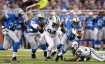 DETROIT, MI - AUGUST 13: Ameer Abdullah #21 of the Detroit Lions runs for a short gain during the first quarter of the preseason game against the New York Jets on August 13, 2015 at Ford Field Detroit, Michigan. The Lions defeated the Jets 23-3.  (Photo by Leon Halip/Getty Images)