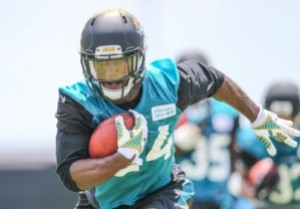 Yeldon will get FED in Jacksonville (Photo from our friends at dynastyfootballwarehouse.com)