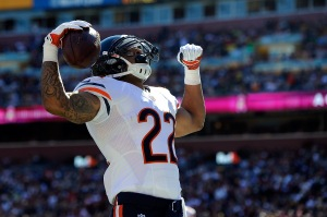Matt Forte is the league's leading rusher after six weeks. (Photo by Patrick McDermott/Getty Images)