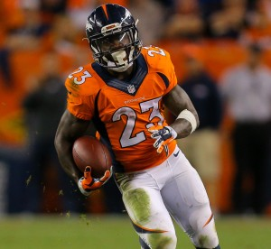 Ronnie Hillman has been the most productive running back in Denver this season (Image from profootballtalk.nbcsports.com)